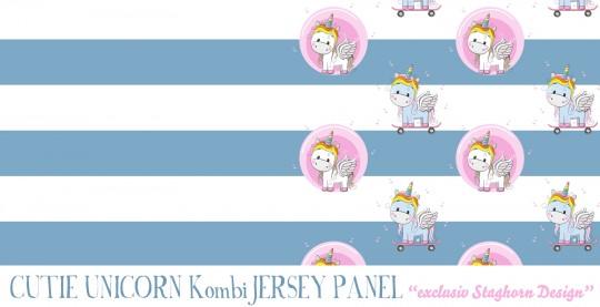 *Cute Unicorn Kombi* Panel Bio Jersey
