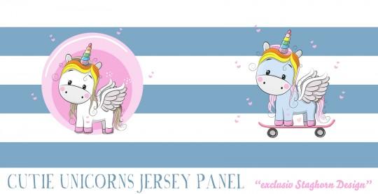 *Cute Unicorn* Panel Bio Jersey