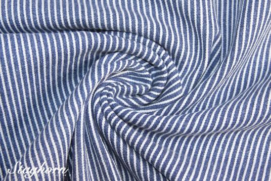 Hochwertiger Streifen Jeans Stretch Denim blau *neu* - elastisch - Oeketex