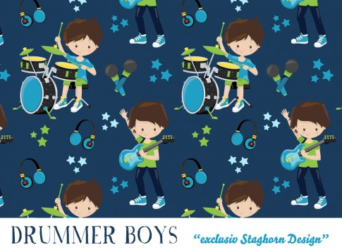 Drummer Boys Jersey navy