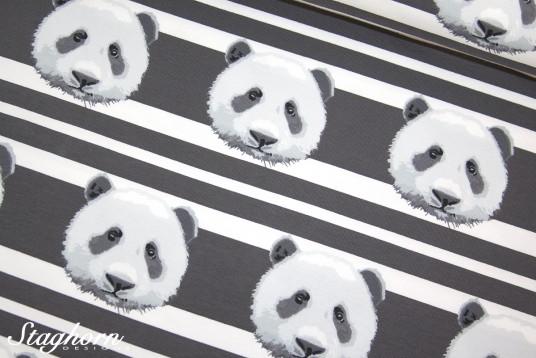 Panda Jersey Streifen grau *panda stripes* - elastisch - Oeketex