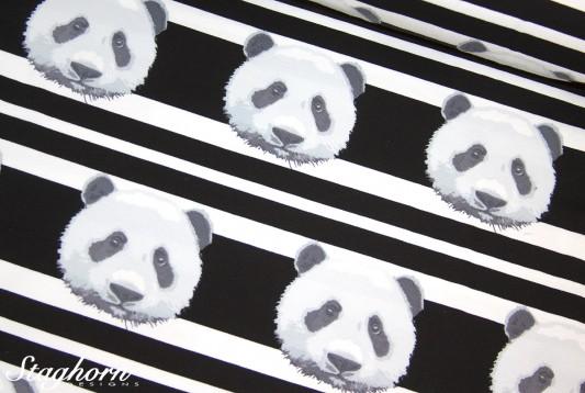 Panda Jersey Streifen schwarz *panda stripes* - elastisch - Oeketex