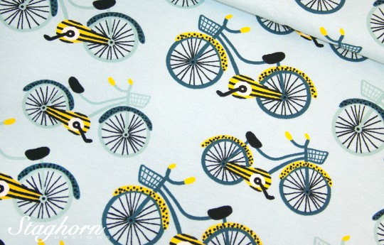 Super Sonderpreis Jersey *Bicycle* minty aqua - Baumwolljersey - Oeketex