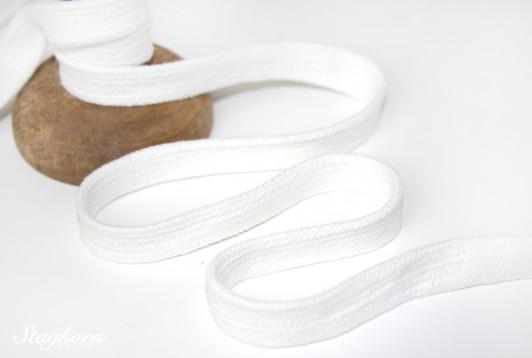 Flache Baumwoll Kordel/ Band - creme - ca. 1,5cm