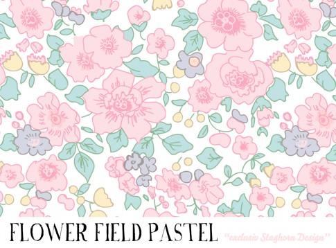 *Flower Field Pastel* Bio Jersey *Frühlings Girlies Serie*