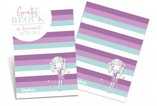 1 Block exklusiv Staghorn *Schulgirls* - 50 Seiten - DIN A5