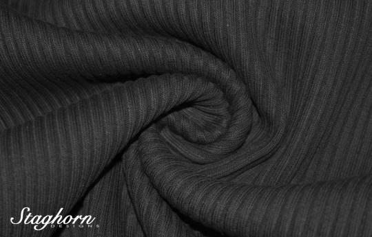 Grobstrick Bündchen schwarz *Bündchen De Luxe* 70-74cm breit - elastisch