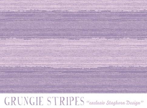 Grungie Stripes Bio Sweat flieder