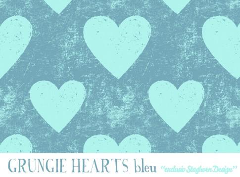 Grungie Hearts Bio Sweat bleu mint