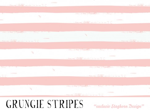 *Grungie Stripes Summer Girlies* Bio Jersey