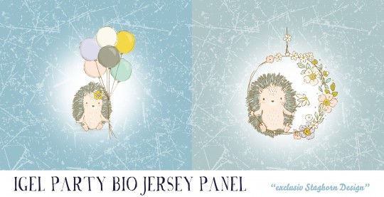 *Igel Party Panel* Bio Jersey *Igel Party Serie*