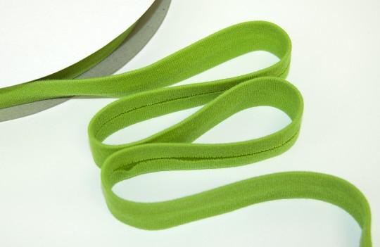 Baumwoll Jersey Schrägband hellgrün - elastisch