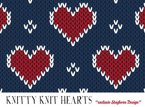 Navy Hearts Knitty Knit Bio Sweat *Cutest Winter Girls*