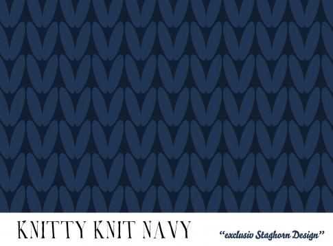 VORBESTELLUNG Navy Knitty Knit Bio Sweat *Cutest Winter Girls*