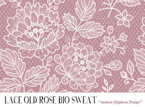 VORBESTELLUNG *Lace Old Rose* Bio Sweat *Sewing Girls Serie*