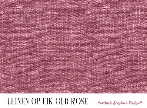*Leinen Optik Old Rose* Bio Sweat *Merry Christmas Serie*