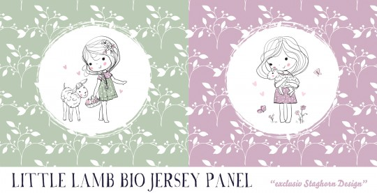 *Little Lamb Lavender Panel* Bio Jersey Panel *Little Lamb Serie*