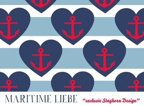 Maritime Liebe *blue red* Bio-Jersey