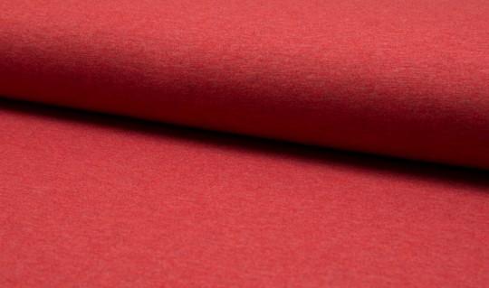 Uni Jersey rot meliert Baumwolle meliert - Oeketex
