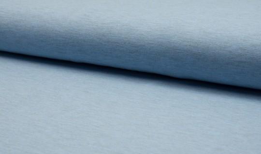 Uni Jersey meliert Baumwolle hellblau meliert - Oeketex