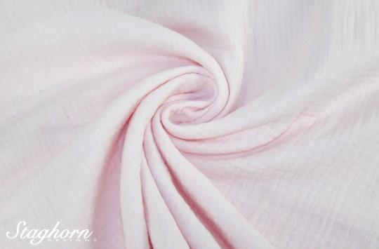 Sonderpreis Musselin uni rose Baumwollstoff 100% Baumwolle