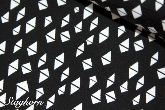 Grafik Jersey *Triangles* schwarz