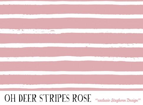 *Deer Stripes rose* Bio Jersey *Oh Deer*