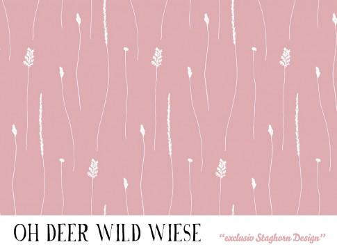 *Wildwiese rose* Bio Jersey *Oh Deer*