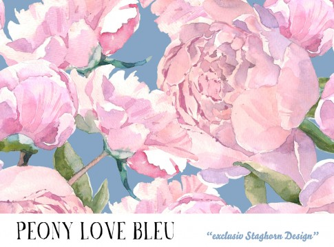 *Bleu Peony Love * Bio Jersey *Beach Girlies Serie*