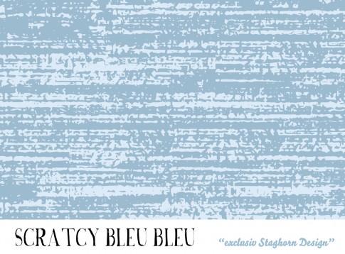 *Scratchy Bleu Bleu* Bio Jersey *Hasen Party Bleu*