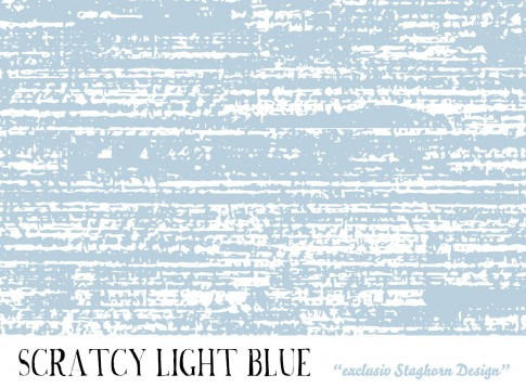 *Light Blue White Scratchy* Bio Jersey *Hasen Party Bleu*