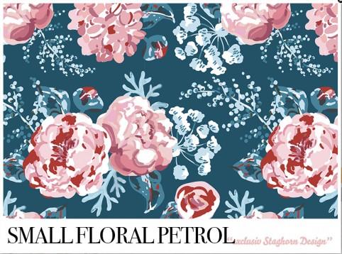*Small Floral Petrol* Bio Sweat *Winter Mädchen Volume 2*