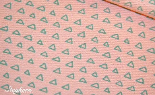 Stenzo Jersey aprikose *triangles* Jersey - Oeketex - elastisch - Stenzo