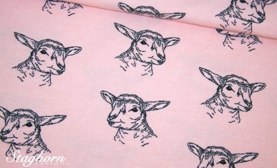 Stenzo Jersey *cutie lamb* rosa Jersey - Oeketex - elastisch