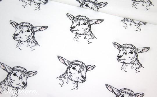 Stenzo Jersey *cutie lamb* weiß Jersey - Oeketex - elastisch
