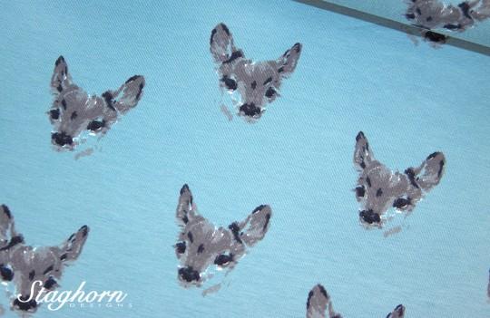 Stenzo Jersey *watercolor deer* bleu Jersey - Oeketex - elastisch
