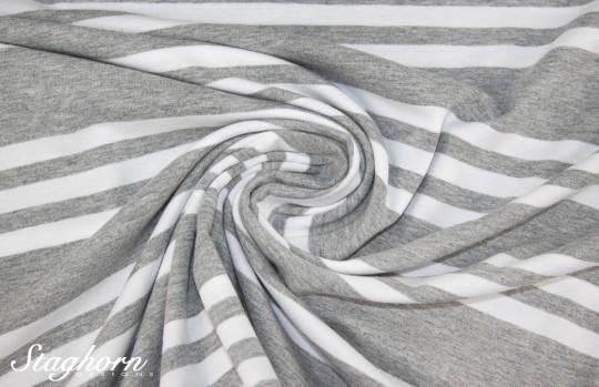 Streifen Jersey *Triple Stripes* hellgrau meliert