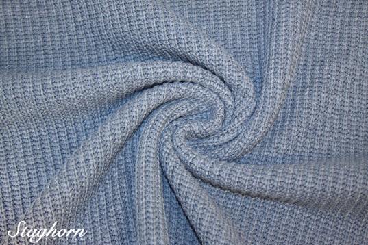 Grobstrick Vintage Style *bleu meliert* *brandneu* - Baumwollstrick