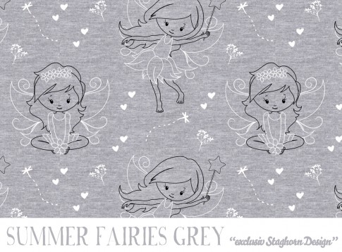 Vintage Summer Fairies hellgrau meliert Bio-Sweat