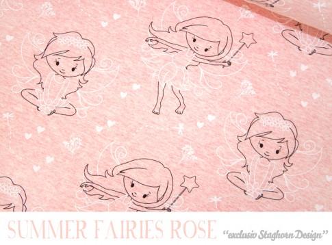 Vintage Summer Fairies rose meliert Bio-Sweat