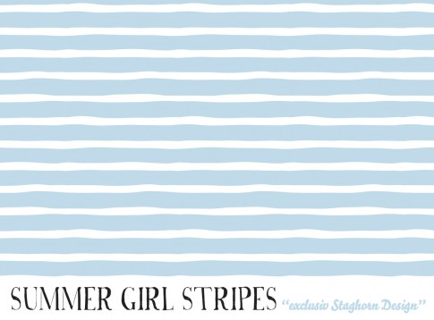 *Summer Stripes Hellblau* Bio Jersey *Summer Girls Serie*