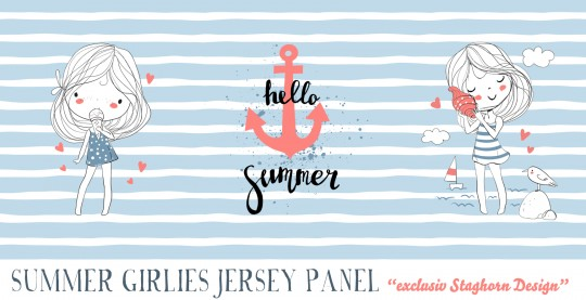 *Summer Girlies* Panel Bio Jersey