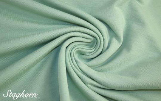 *Brandneu* uni pastell grün Sweat - Ganz Jahres Sweat - elastisch - Oeketex