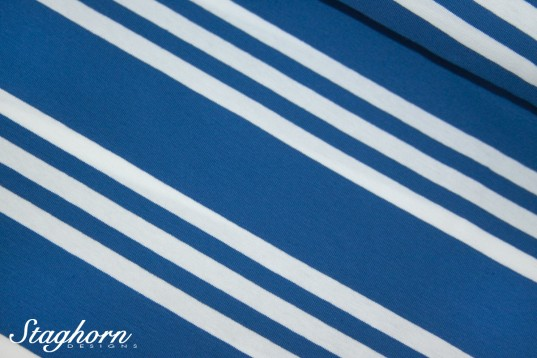Streifen Jersey *Triple Stripes* blau