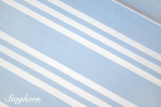 Streifen Jersey *Triple Stripes* hellblau