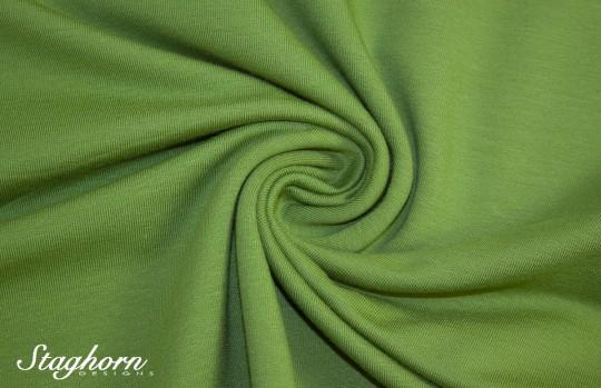 *Brandneu* uni gras grün Sweat - Ganz Jahres Sweat - elastisch - Oeketex