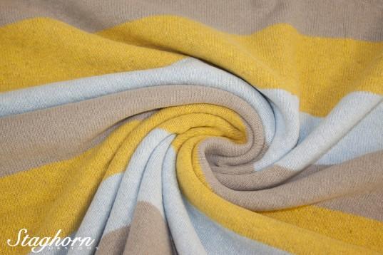 Kuschelweicher Vintage Strick beige - senf - helles bleu *Lina* 7cm