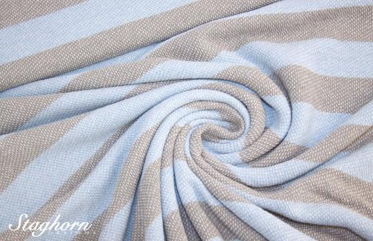 *Brandneuer* Vintage Sweat *Stripes* bleu beige *neu* - elastisch