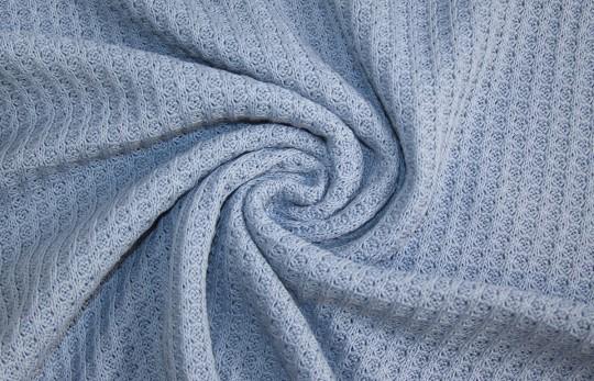 Grobstrick Waffel Vintage Style *himmelblau* *brandneu* - Baumwollstrick