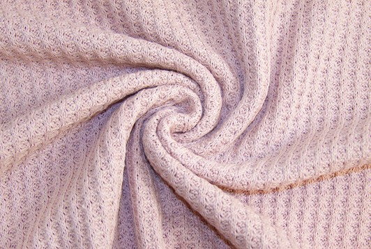 Grobstrick Waffel Vintage Style *rose* *brandneu* - Baumwollstrick